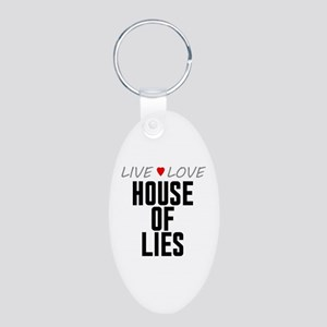 Live Love House of Lies Aluminum Oval Keychain