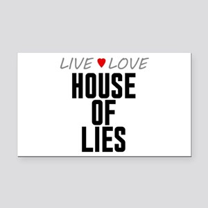 Live Love House of Lies Rectangle Car Magnet