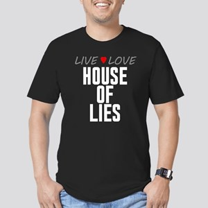 Live Love House of Lies Men's Dark Fitted T-Shirt