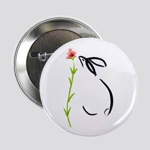 "single pink flower 2.25"" Button"