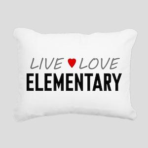 Live Love Elementary Rectangular Canvas Pillow