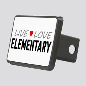Live Love Elementary Rectangular Hitch Cover