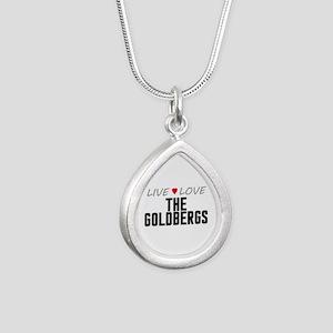 Live Love The Goldbergs Silver Teardrop Necklace
