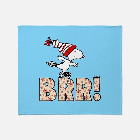 Snoopy Brr! Throw Blanket
