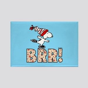 Snoopy Brr! Rectangle Magnet