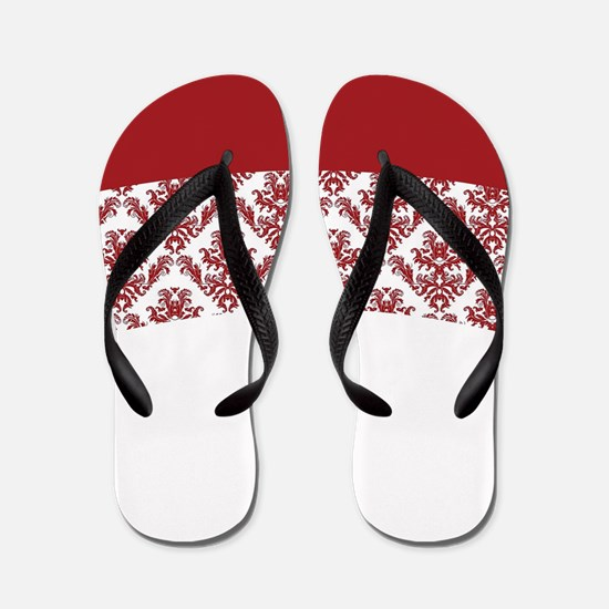 Red Lace Flip Flops