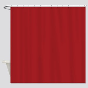 Solid Red Accent Color Pattern Shower Curtain