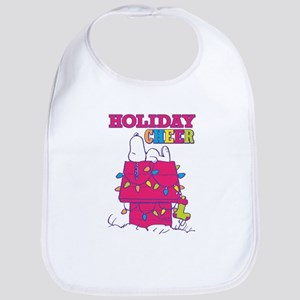 Snoopy Holiday Cheer Cotton Baby Bib