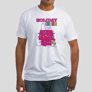 Snoopy Holiday Cheer Fitted T-Shirt