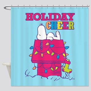 Snoopy Holiday Cheer Shower Curtain
