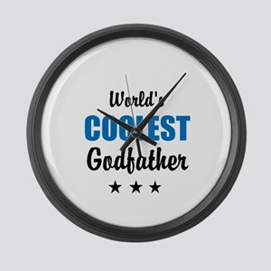 World's Coolest Godfather Large Wall Clock