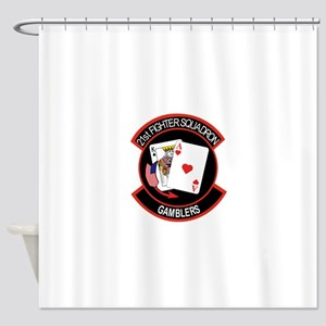 21st_f16 Shower Curtain