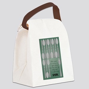 Low Spoons Canvas Lunch Bag