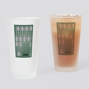 Low Spoons Drinking Glass