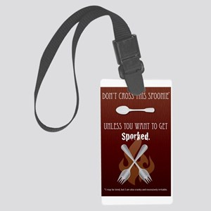 Get Sporked! Large Luggage Tag