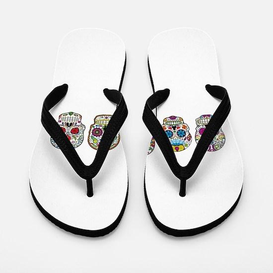 Sugar Skulls By Design Flip Flops