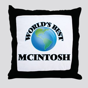 World's Best Mcintosh Throw Pillow