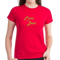 Pizza And Beer Women's Dark T-Shirt