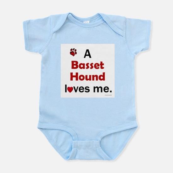 A Basset Hound Loves Me Infant Bodysuit
