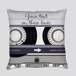 Cassette Tape - Grey Master Pillow