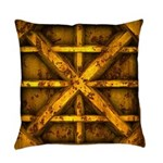 Rusty Shipping Container - yellow Master Pillow