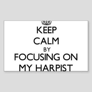 Keep Calm by focusing on My Harpist Sticker