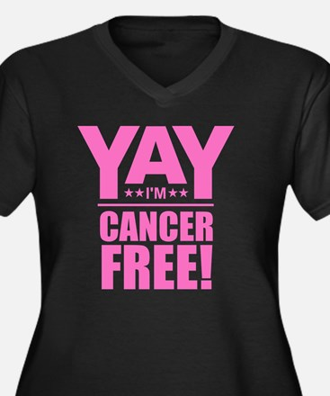 Cancer Free - Pink Plus Size T-Shirt