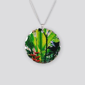 Tropical Morning Necklace Circle Charm