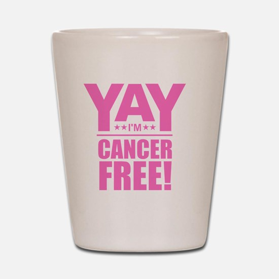 Cancer Free - Pink Shot Glass