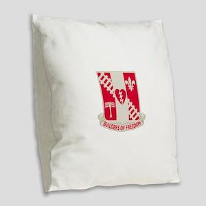 44th Army Engineer Battalion.p Burlap Throw Pillow