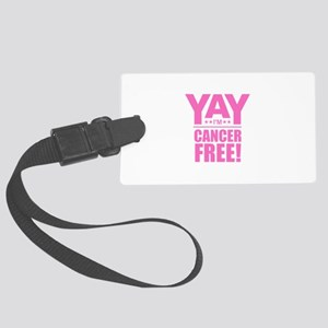 Cancer Free - Pink Large Luggage Tag