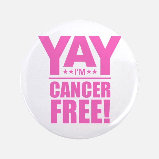 "Cancer Free - Pink 3.5"" Button"