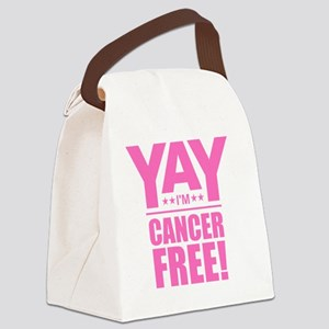 Cancer Free - Pink Canvas Lunch Bag