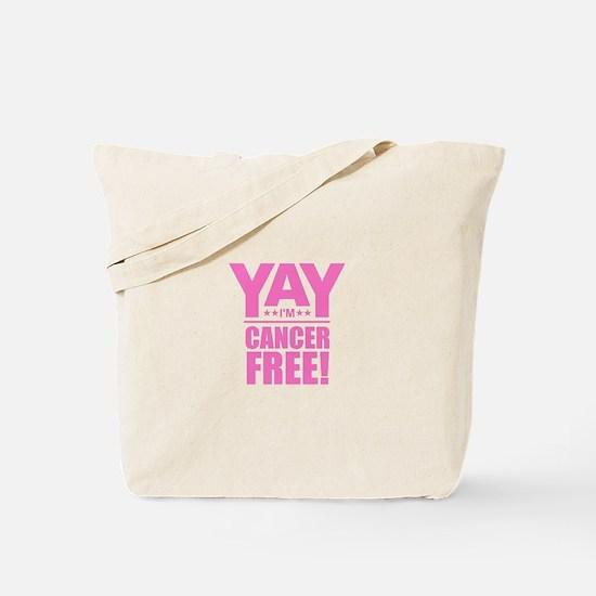 Cancer Free - Pink Tote Bag