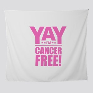 Cancer Free - Pink Wall Tapestry