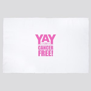 Cancer Free - Pink 4' x 6' Rug