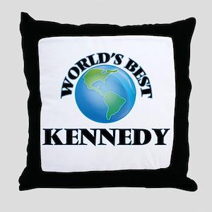 World's Best Kennedy Throw Pillow