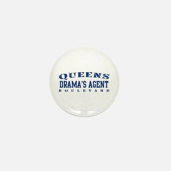Drama's Agent - Queens Blvd Mini Button
