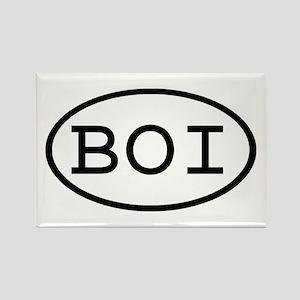 BOI Oval Rectangle Magnet