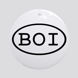 BOI Oval Ornament (Round)