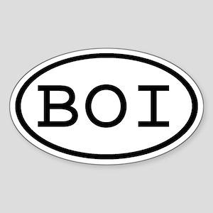 BOI Oval Oval Sticker