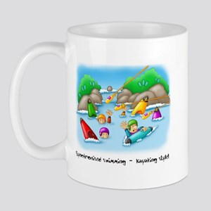 10x10_apparel_34_swimming Mugs