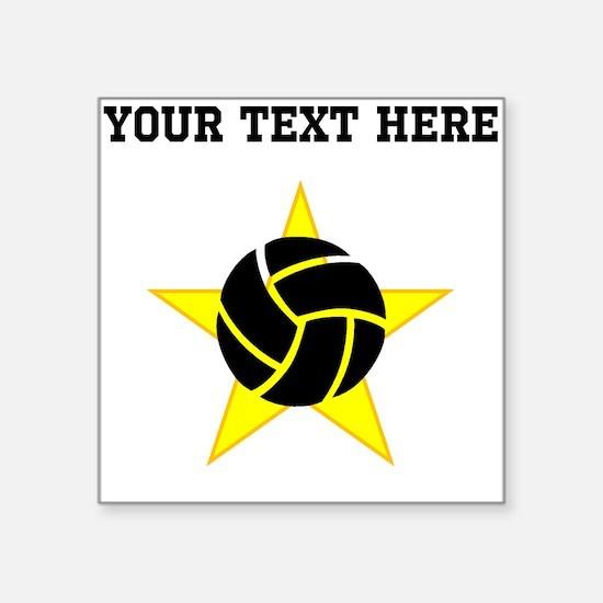 Volleyball Star (Custom) Sticker