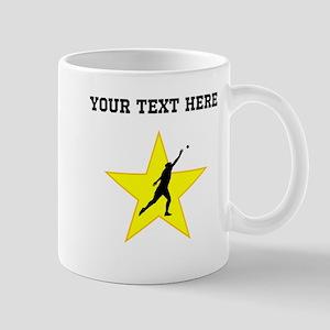 Shot Put Silhouette Star (Custom) Mugs
