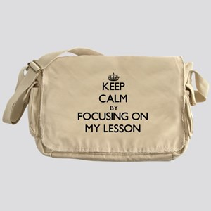 Keep Calm by focusing on My Lesson Messenger Bag