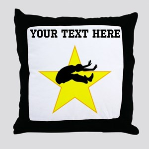 Long Jumper Silhouette Star (Custom) Throw Pillow