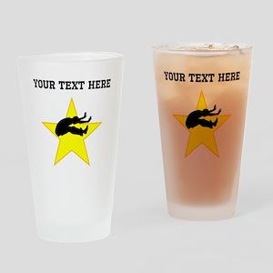 Long Jumper Silhouette Star (Custom) Drinking Glas