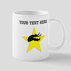 Long Jumper Silhouette Star (Custom) Mugs
