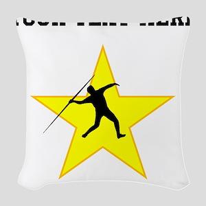 Javelin Throw Silhouette Star (Custom) Woven Throw