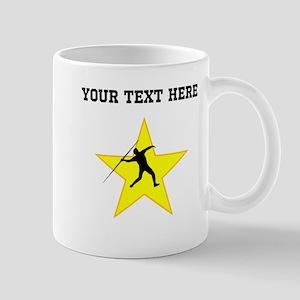 Javelin Throw Silhouette Star (Custom) Mugs